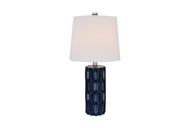 Youth Table Lamp-Faceted Blue - 360
