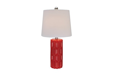 Youth Table Lamp-Faceted Red