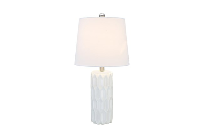 Youth Table Lamp-Faceted White - 360
