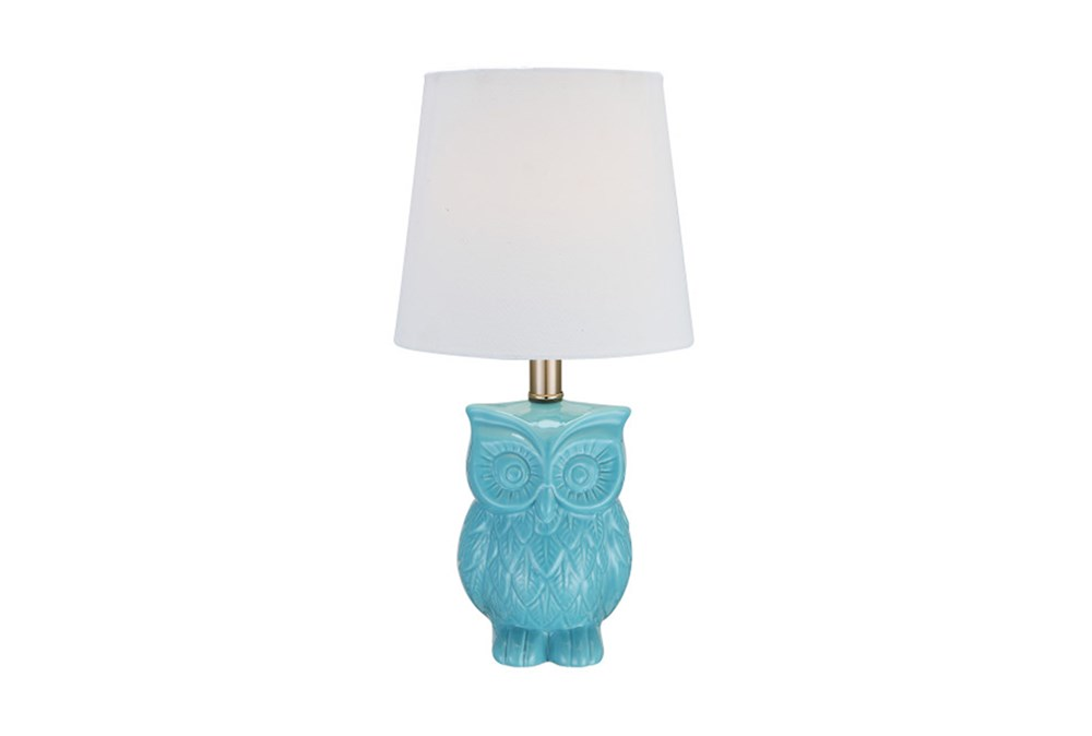 Youth Table Lamp-Aqua Owl
