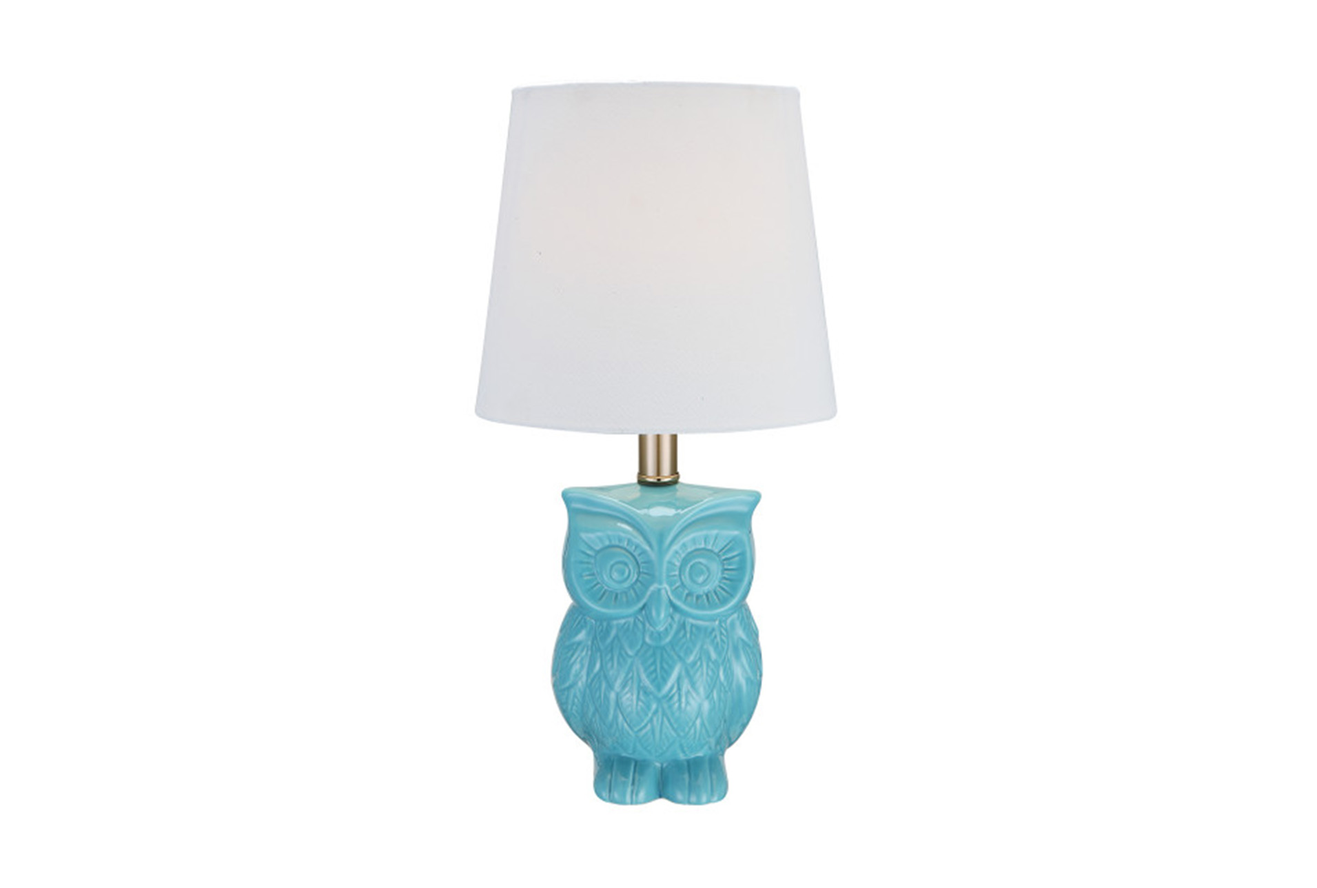 Youth Table Lamp Aqua Owl   360
