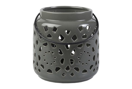 Outdoor Grey Lantern Small