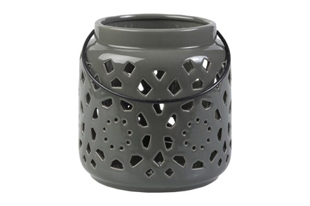 Outdoor Grey Lantern Small - Main