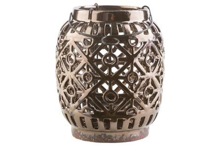 Outdoor 9 Inch Brown Lantern