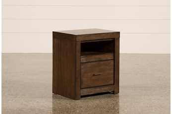 "Riley Brownstone 1-Drawer 25"" Nightstand"