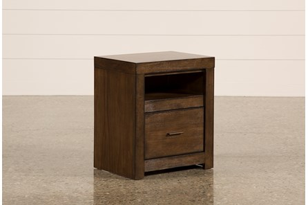 Riley Brownstone 1-Drawer Nightstand - Main