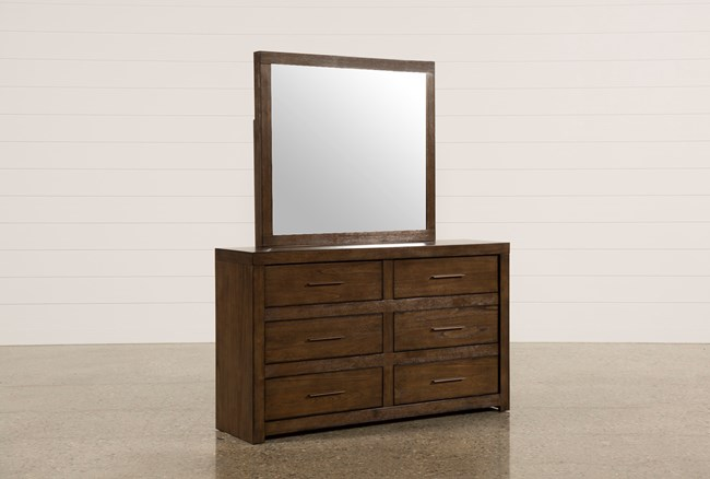 Riley Brownstone Dresser/Mirror - 360