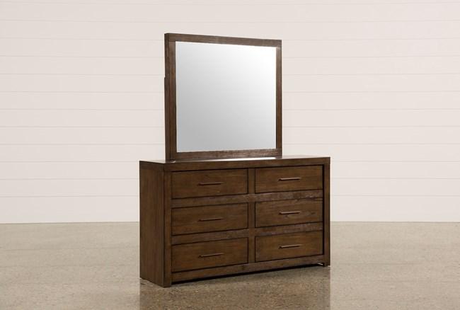 Riley Brownstone Dresser/Mirror - 360
