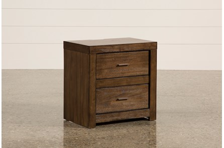 Riley Brownstone 2-Drawer Nightstand - Main