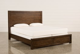 Riley Brownstone Queen Panel Bed