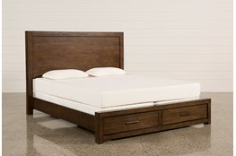 Riley Brownstone Queen Panel Bed With Storage and USB
