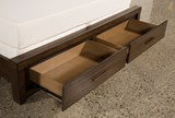 Riley Brownstone Queen Panel Bed W/Storage - Top