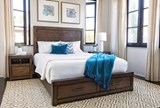 Riley Brownstone Queen Panel Bed W/Storage - Room