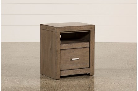 Riley Greystone 1-Drawer Nightstand - Main