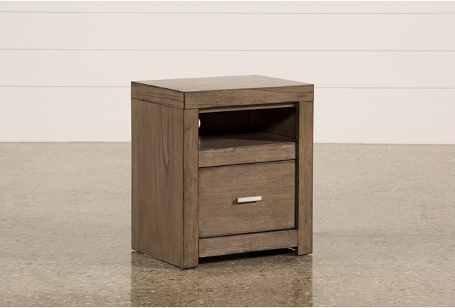 "Riley Greystone 1-Drawer 25"" Nightstand - 360"