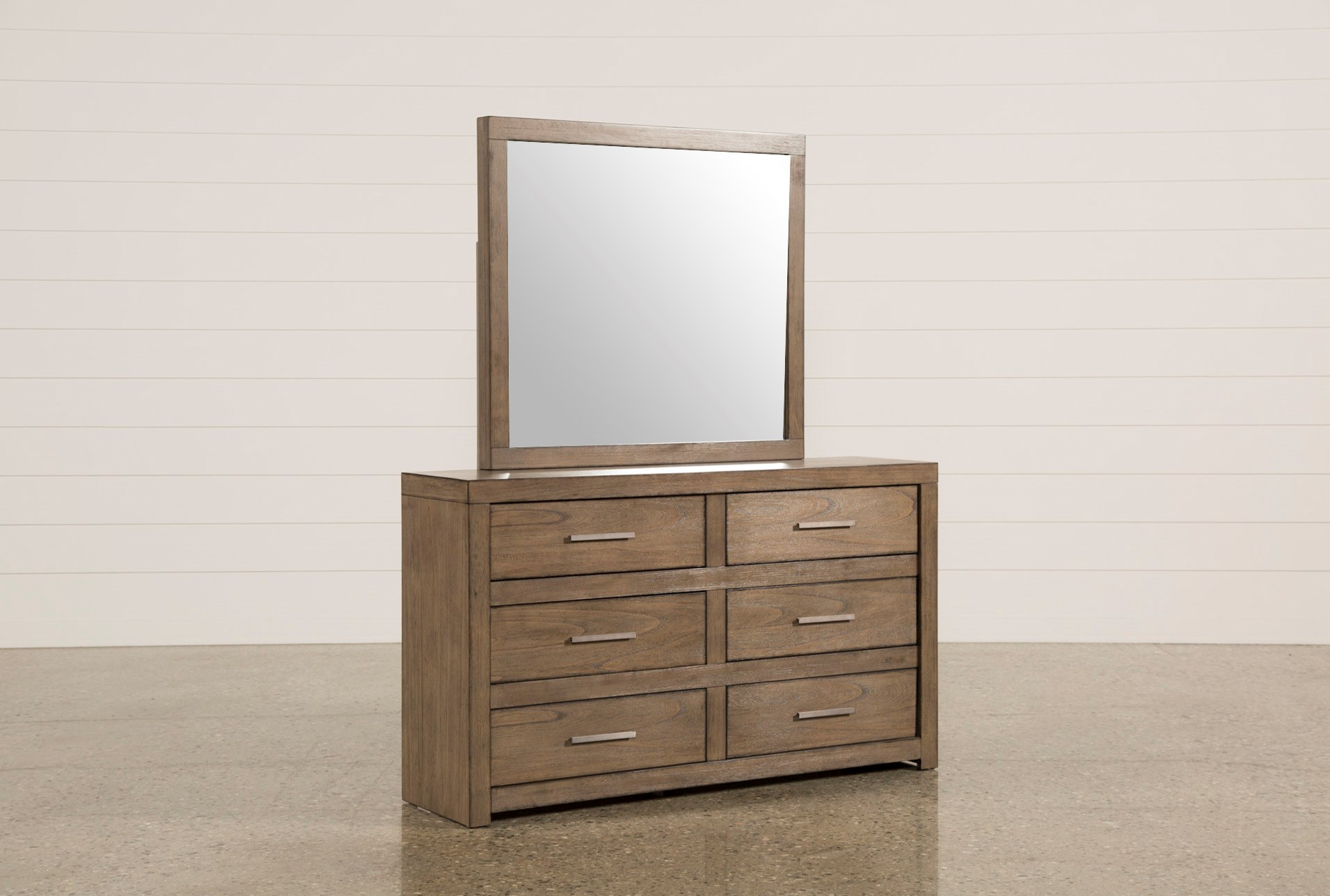 Riley Greystone Dresser Mirror Living Spaces