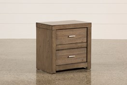 Riley Greystone 2-Drawer Nightstand