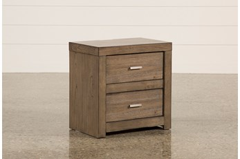 "Riley Greystone 2-Drawer 25"" Nightstand"