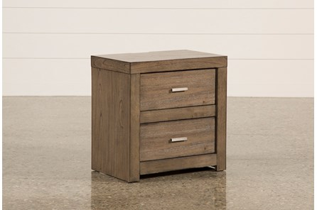 Riley Greystone 2-Drawer Nightstand - Main