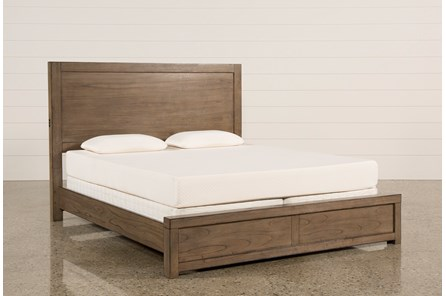 Riley Greystone California King Panel Bed With USB