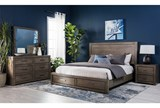 Riley Greystone California King Panel Bed W/Storage - Room