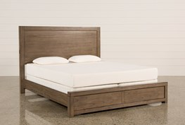 Riley Greystone Queen Panel Bed
