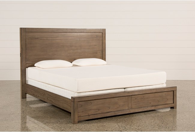 Riley Greystone Queen Panel Bed With USB - 360
