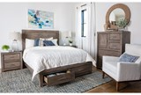 Riley Greystone Queen Panel Bed W/Storage - Room