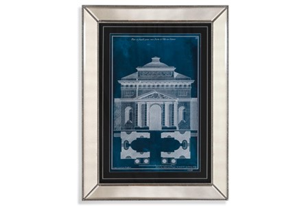 Picture-Mirror Framed Blue Facade II
