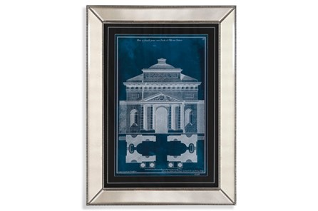 Picture-Mirror Framed Blue Facade Ii - Main