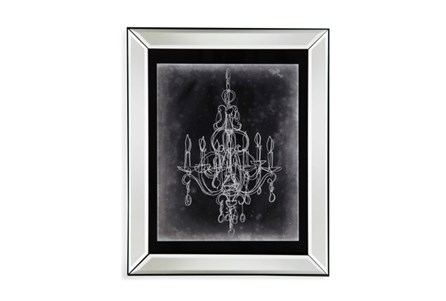 Picture-Mirror Framed Chandelier Sketch IV