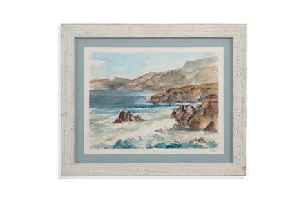 Picture-Whitewash Framed Waves II - Main