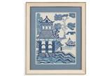 Picture-Blue Pagoda I - Signature