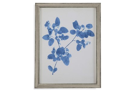 Picture-Pressed Leaf Blue III