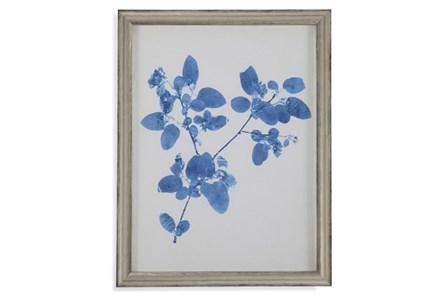 Picture-Pressed Leaf Blue Iii - Main