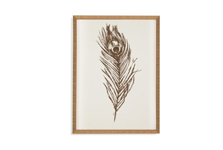 Picture-Gold Peacock Feather I