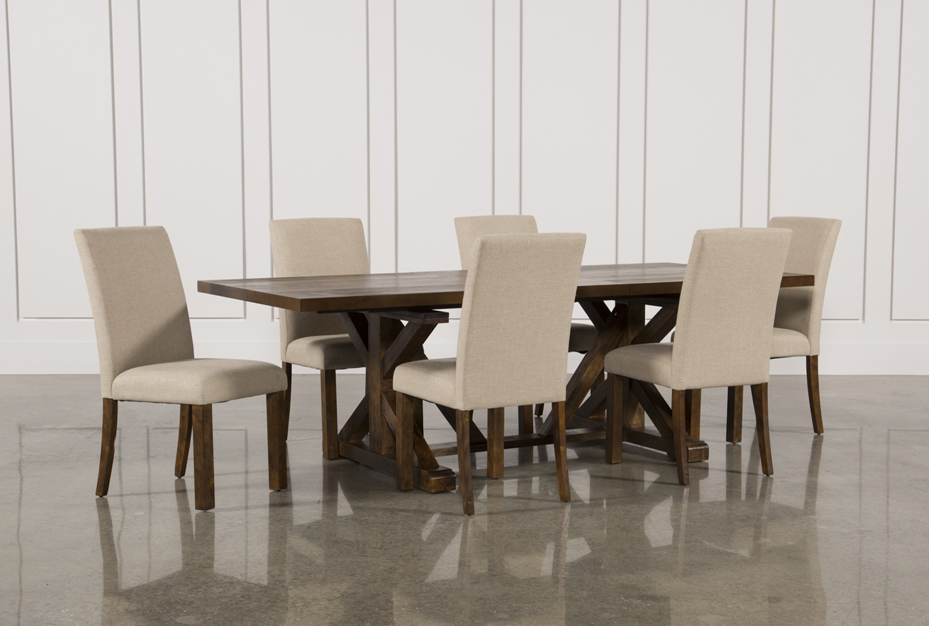 Superbe Chandler 7 Piece Extension Dining Set W/Fabric Side Chairs (Qty: 1) Has  Been Successfully Added To Your Cart.