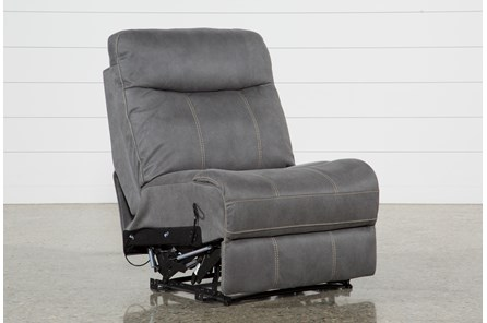 Denali Light Grey Armless Recliner - Main