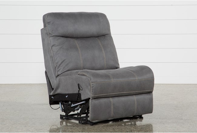 Denali Light Grey Armless Recliner - 360