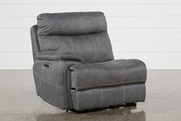 Denali Light Grey Left Facing Power Recliner W/Usb & Power Headrest