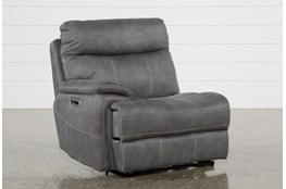 Denali Light Grey Laf Power Recliner W/Usb & Power Headrest