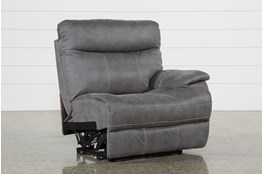 Denali Light Grey Right Facing Power Recliner W/Usb & Power Headrest