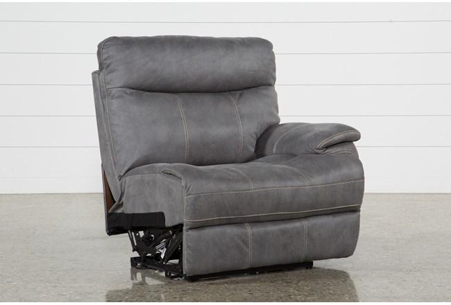 Denali Light Grey Right Facing Power Recliner W/Usb & Power Headrest - 360