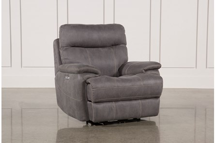 Denali Light Grey Power Recliner W/Power Headrest