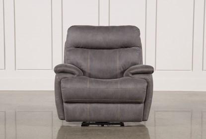 Fantastic Denali Light Grey Power Recliner W Power Headrest Gamerscity Chair Design For Home Gamerscityorg