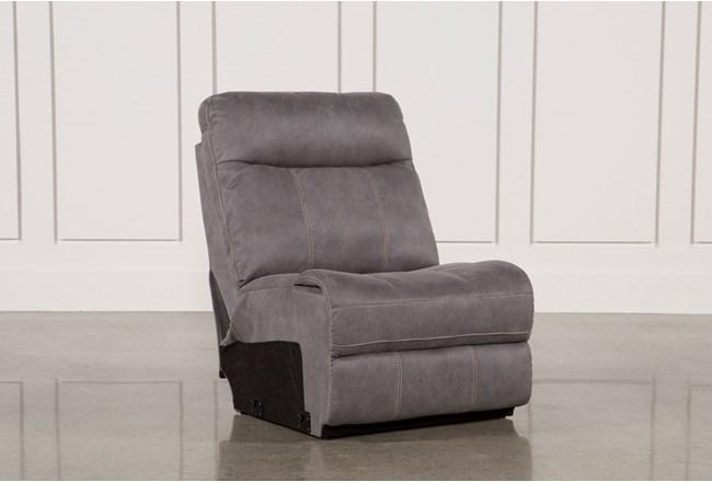 Denali Light Grey Armless Chair - 360
