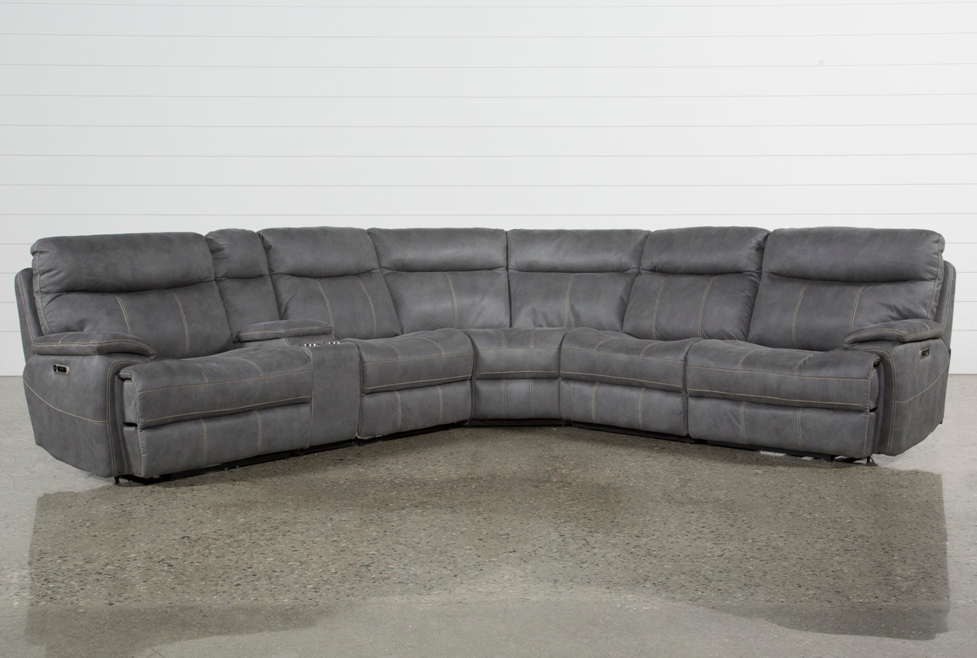 Denali Light Grey 6 Piece Reclining Sectional W 2 Headrests Qty 1 Has Been Successfully Added To Your Cart