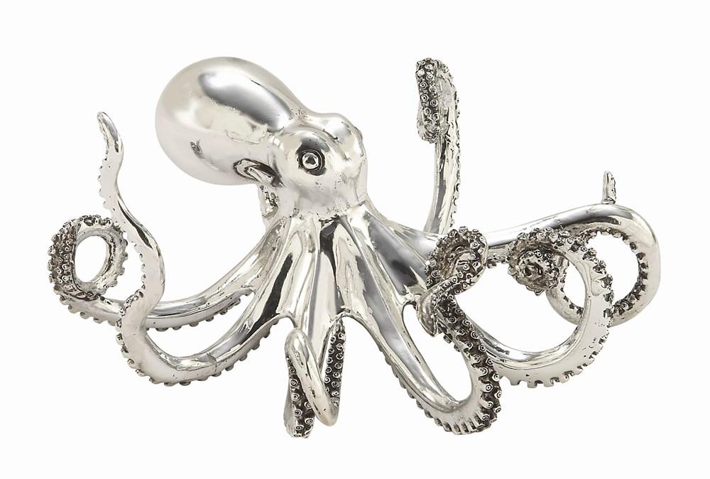 5 Inch Silver Octopus
