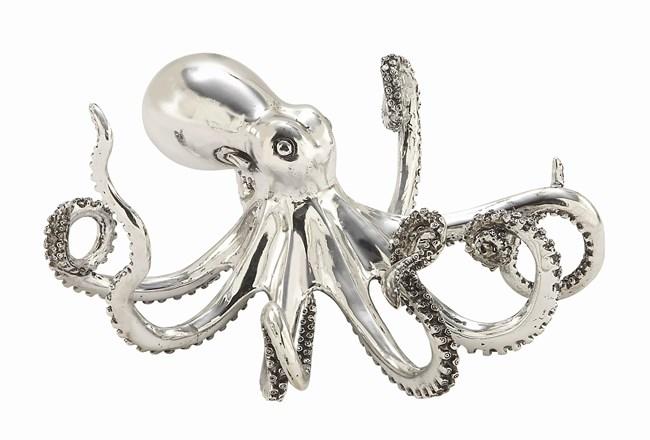 5 Inch Silver Octopus - 360