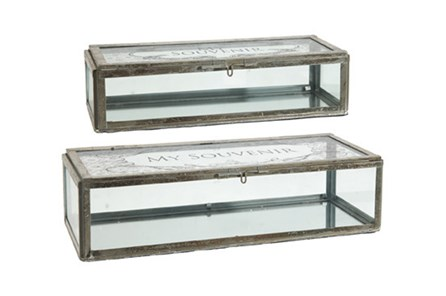 2 Piece Set My Souvenir Glass Boxes - Main